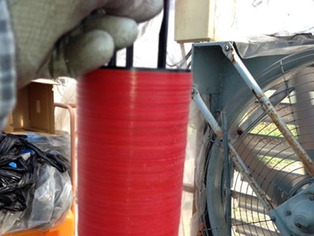液肥混合タンクに25L/minノズル使用